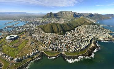 Vue panoramique de Cape Town en voyage en Afrique du Sud