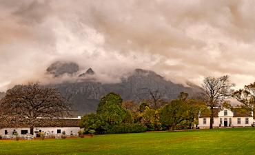 Paysage et montagne avec nuages à Cape Town en Afrique du Sud