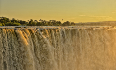 Chute de Victoria à Victoria Falls en voyage au Zimbabwe