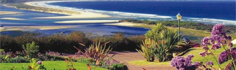 Paysage et plage à Oudtshoorn en voyage en Afrique du Sud